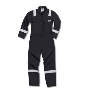 ARR215G NOMEX  COVERALL WITH REFLECTIVE ARR-4966- BLACK-S