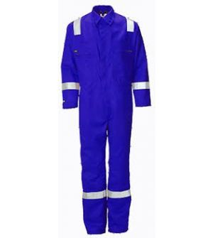ARR255G NOMEX  COVERALL WITH REFLECTIVE COV-4526-BLUE-L